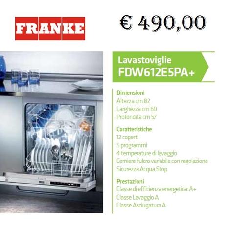 lavastoviglie Franke Scontata - Elettrodomestici a prezzi scontati