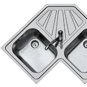 Lavello angolare della Foster due vasche con scivolo Inox