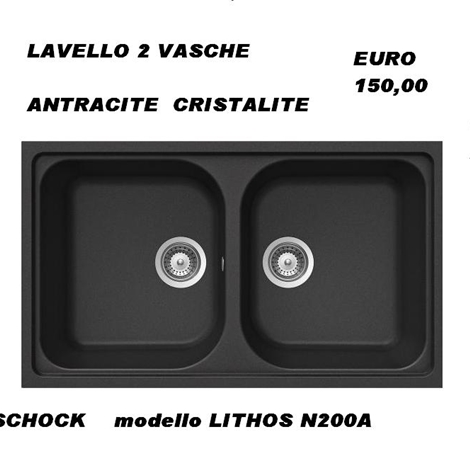 outlet LAVELLO antracite 2 VASCHE schock