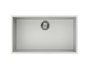 Lavello Elleci quadra 130 sottotop lvq13096bso - lavello 1 vasca in vitrotek (v96 white) Elleci a prezzo scontato