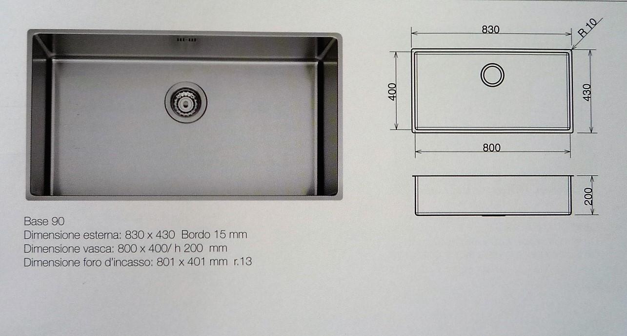 Lavello mono vasca modello aterna scontato del 50 - Lavello cucina sottotop ...