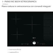Neff Elettrodomestico  neff , piano cottura in vetroceramica induzione con comandi integrati