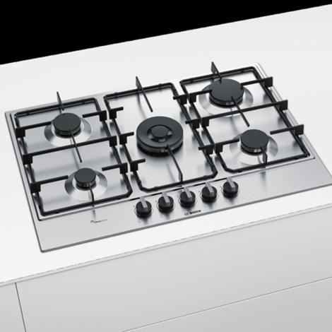 piano cottura bosch ad incasso in acciaio inox modello