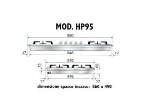 Piano cottura Ilve modello HP95C/I