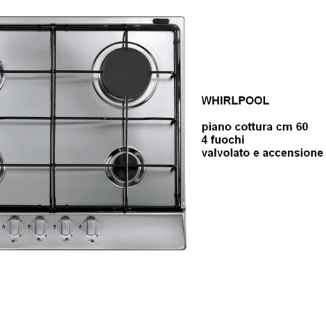 outlet PIANO COTTURA WHIRLPOOL INOX
