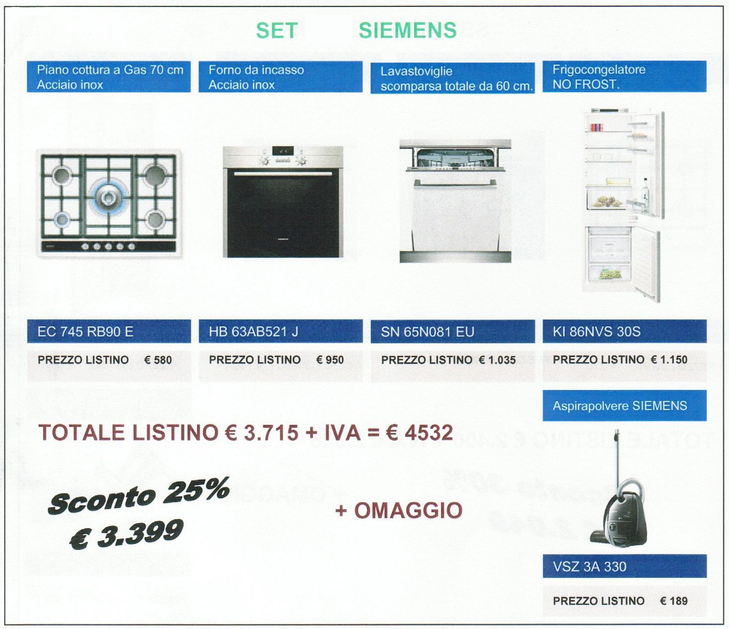 Siemens Elettrodomestici Set 4 elettrodomestici siemens + omaggio ...