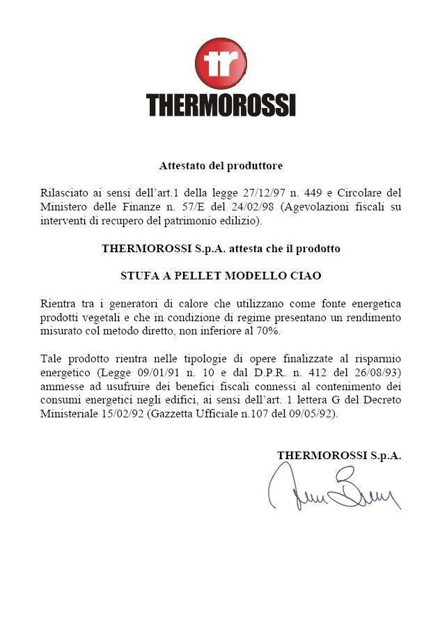 THERMOROSSI CIAO - DESIGN PELL