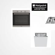 Tris elettrodomestici della Hotpoint Ariston: Forno, Piano Cottura e Lavastoviglie