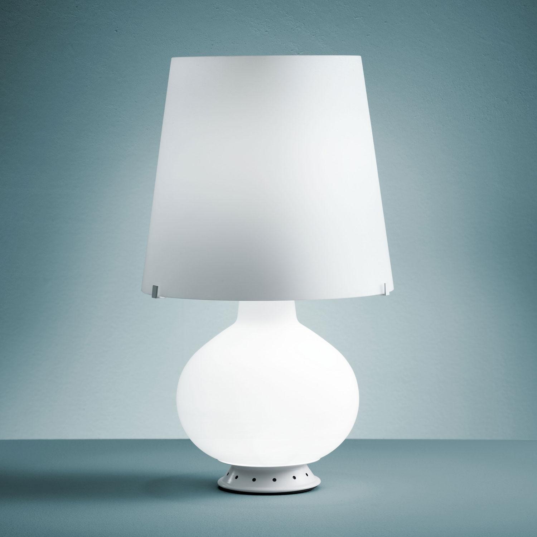lampada con cappello imitazione fontana in vetro