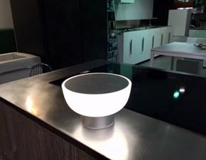 Illuminazione Alma Light,Modello Patio -  Lampada da esterno di Design a Led IP 55,policarbonato e Argento,ricaricabile senza Filo