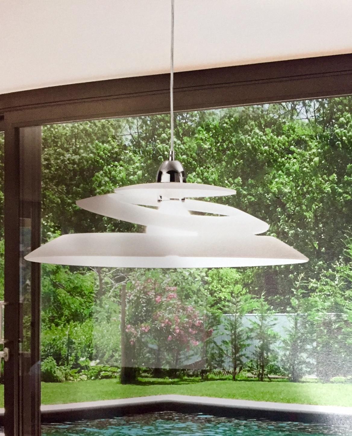 Illuminazione fabas luce aragon 3357 42 102 vetro lampade for Lampade moderne a sospensione