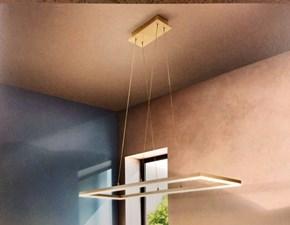 Illuminazione a soffitto, Fabas Luce modello Bard 3394-45-225 struttura in Metallo con profilo perimetrale Oro lampade di Design,alimentazione a Led