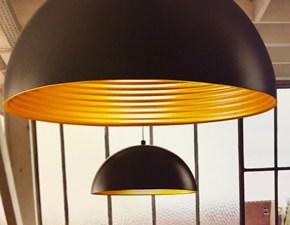 Illuminazione,Lampada a sospensione  Fabas Luce Mod. Dingle 3215-40-101 in Metallo colore nero esterno-oro interno -prodotto Design