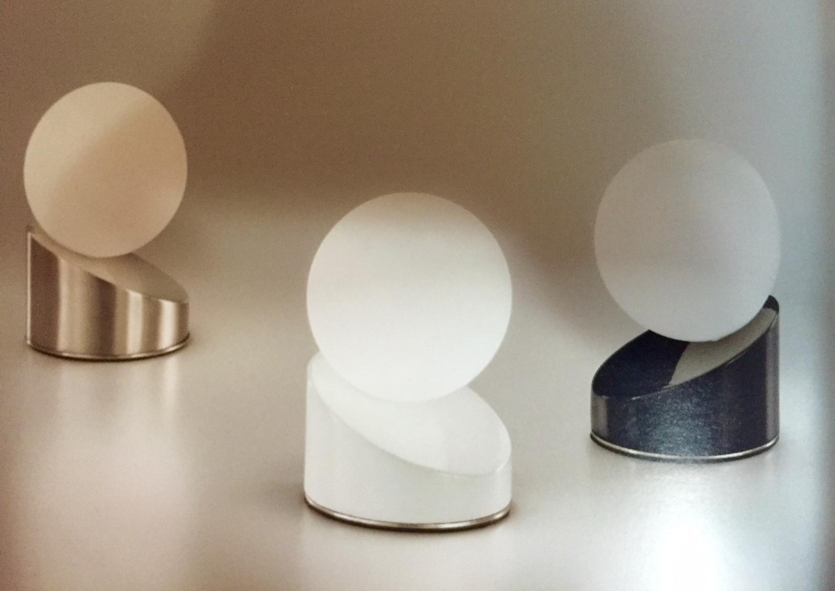 Illuminazione fabas luce gravity 3360 30 102 vetro lampade for Lampade da tavolo design famose