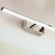 Lampada a parete-specchiera Fabas Luce-Nala 3361-21-138 Metallo e metacrilato, IP44 - adatta per bagno e locali umidi -diffusore a Led 6W a 540 Lumen.