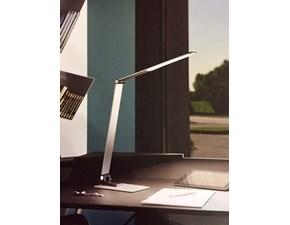 Fabas Luce, Lampade da tavolo di Design, modello Versilia in alluminio spazzolato - alimentazione a Led