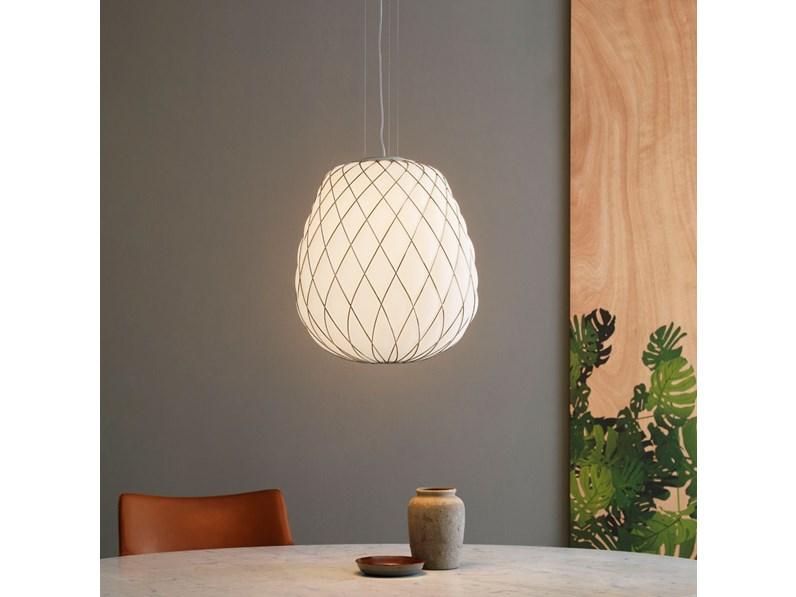 Soggiorni Moderni Scontati : Illuminazione fontana arte pinecone vetro