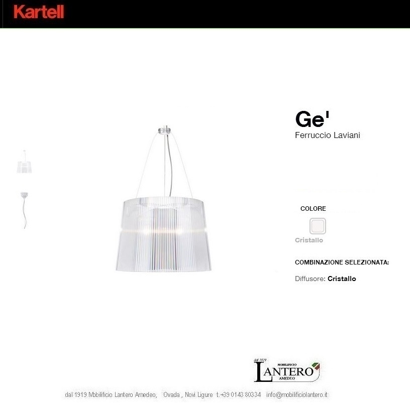 Illuminazione Kartell Ge ,lampade a sospensione kartell, vendita online Lampade a sospensione ...