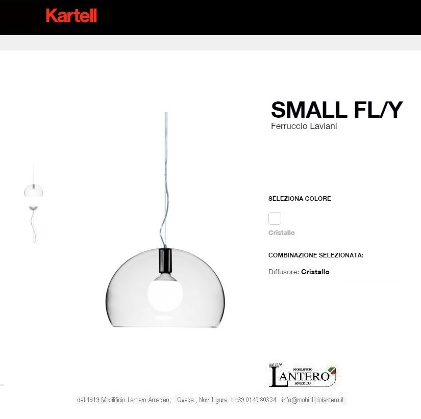 Illuminazione Kartell Fly small led , vendita online kartell Lampade a ...