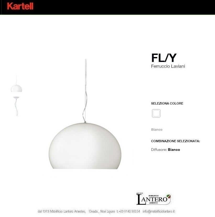 illuminazione kartell shop online kartell fly led lampada a sospensione lampade a sospensione. Black Bedroom Furniture Sets. Home Design Ideas