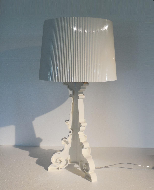 illuminazione kartell 9076 lampada bourgie white lampada kartell promozione lampade da tavolo. Black Bedroom Furniture Sets. Home Design Ideas