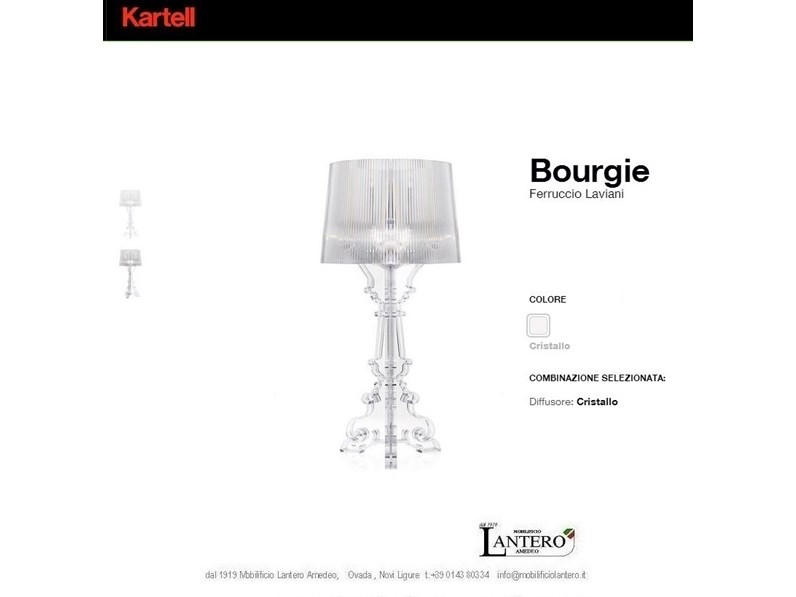 Awesome Lampada Kartell Bourgie Pictures Harrop Us