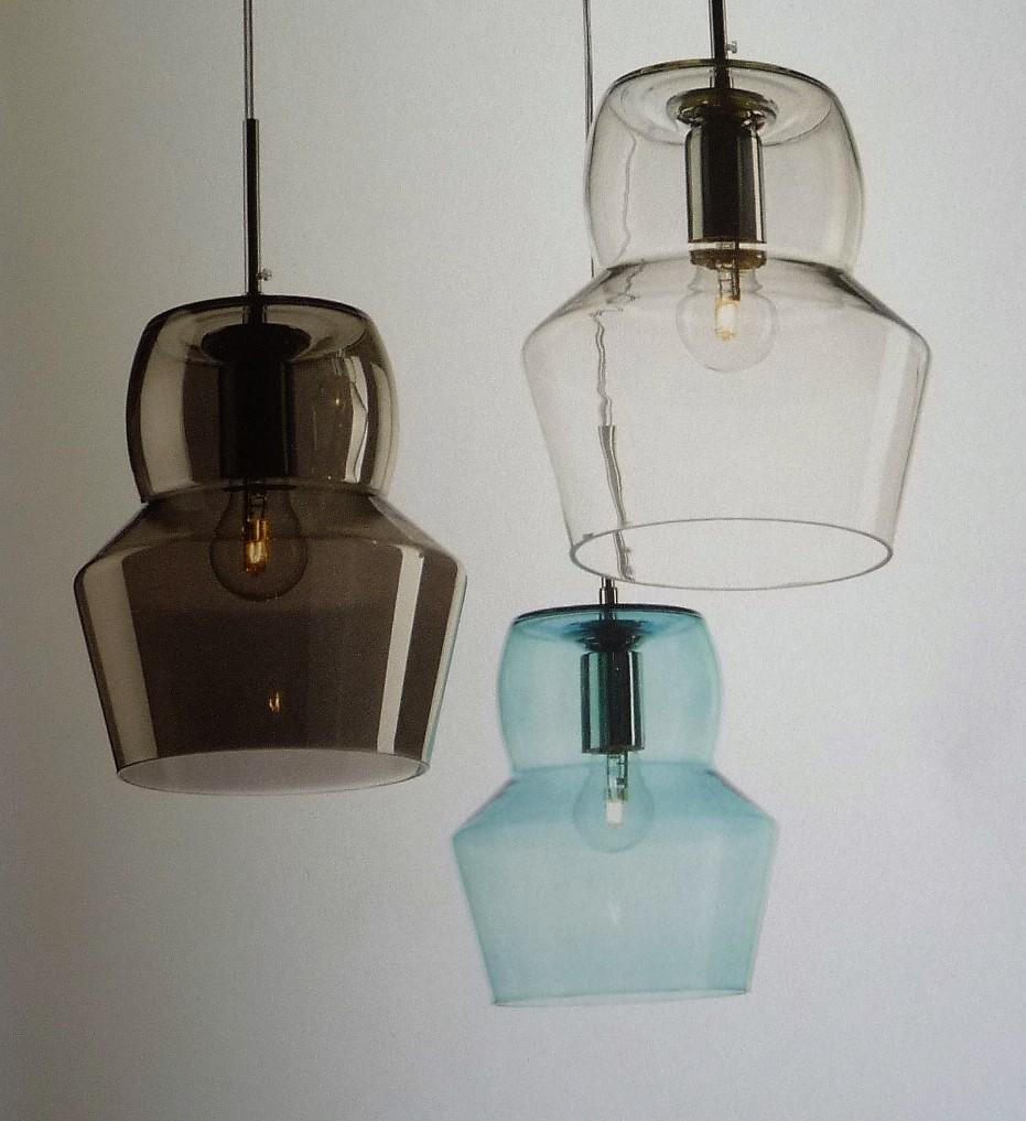 Lampada a soffitto di Idea Lux in vetro soffiato fumè scontata del 40% - Illu...