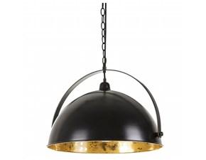 Lampada a sospensione in metallo Nero-oro Ixia a prezzo Outlet