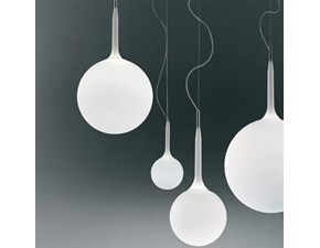 Lampada a sospensione in vetro Castore da 25 artemide  Artemide a prezzo Outlet