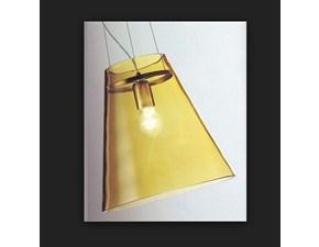 Lampada a sospensione in vetro Cheope ambra Vistosi a prezzo Outlet