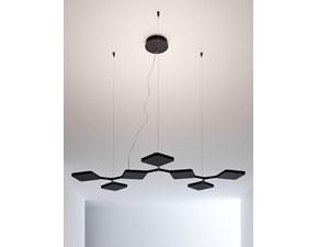 Lampada a sospensione Linea light Quad 8521 Nero a prezzi outlet