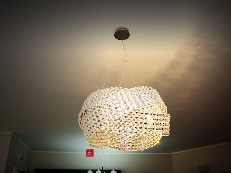 Lampada a sospensione marchetti modello s 65 trasparente a for Arredamenti serafino