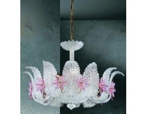 Lampada a sospensione Murano due Vetrilamp art 142 Bianco a prezzi outlet