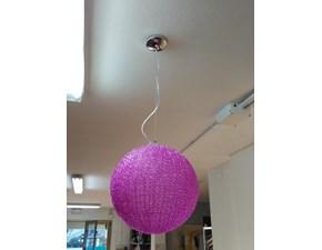 Lampada a sospensione stile Design 5639/1 dm.40 fuxia Artigianale in offerta outlet