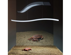 Lampada a sospensione stile Design Serpentine Fontana arte scontato