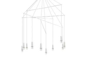 Lampada a sospensione stile Moderno Pop sp10 bianco Ideal lux scontato