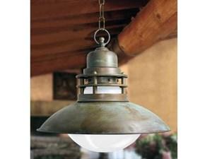 Lampada a sospensione stile Rustico Serie vanua  moretti luce Artigianale a prezzi outlet