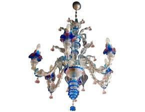 Lampadario a sospensione vetro di murano by Andromeda in offerta