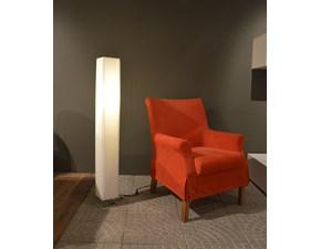 Lampada Design modello Luxia. Lampada a terra con basamento in acciaio cromato. Offerta Outlet Mobilgross. Scontata del -53%.