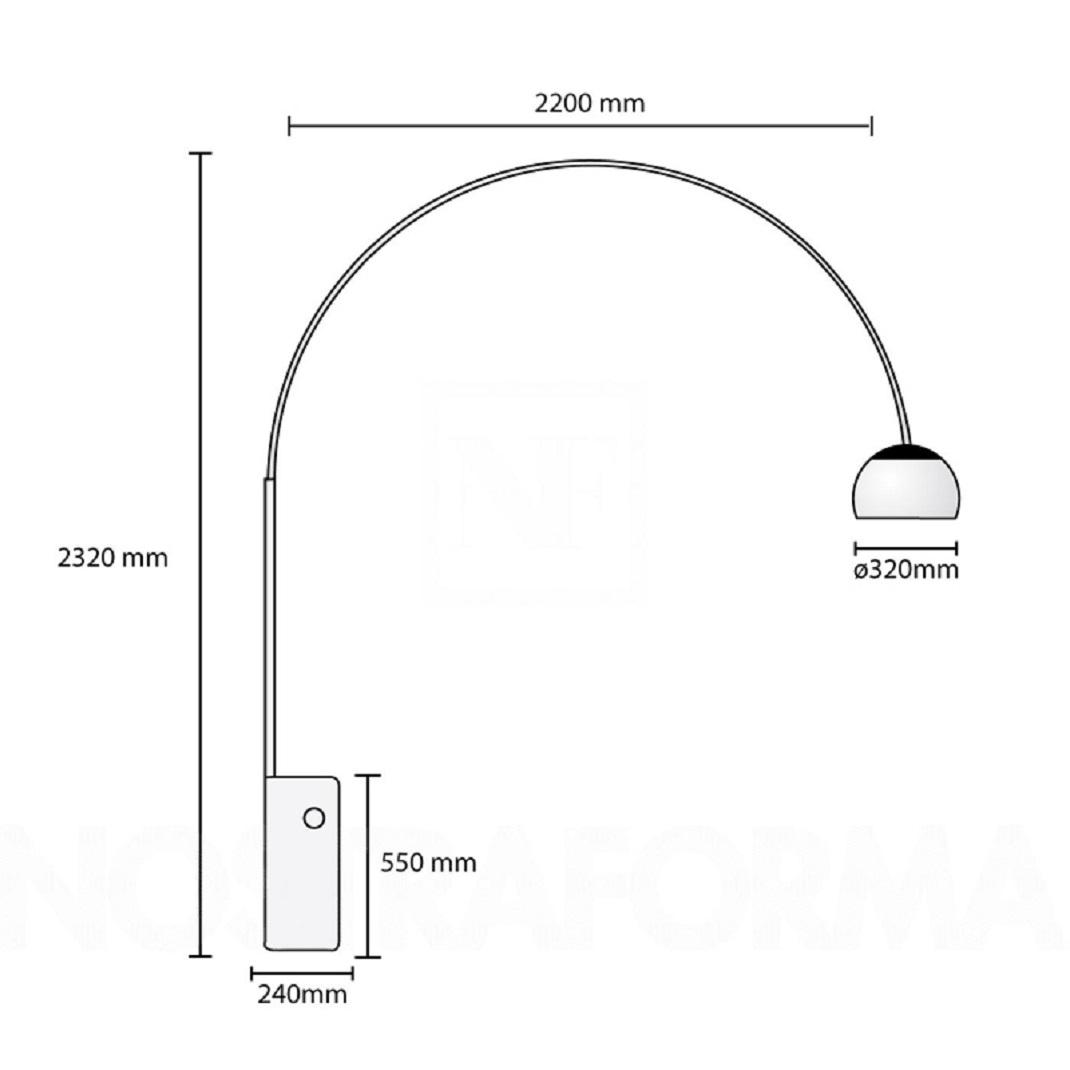 Lampada ad arco castiglioni scontata del 30 for Lampada di castiglioni prezzo