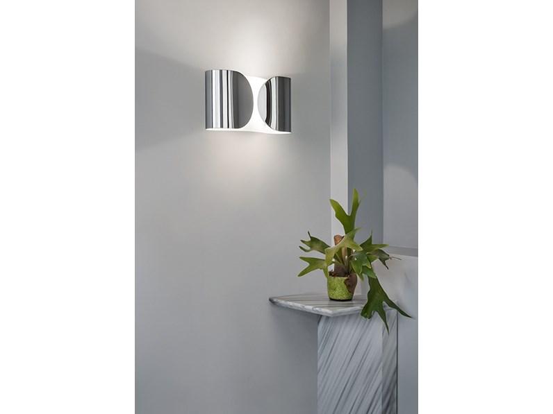 Lampada da parete Flos Foglio cromo stile Design a prezzi outlet