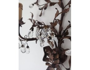 Lampada da parete in metallo Applique montart Artigianale in Offerta Outlet