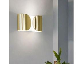Lampada da parete in metallo Foglio Flos a prezzo Outlet