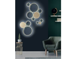 Lampada da parete O-luce Ondaluce plafoniera pois oro  stile Moderno a prezzi outlet