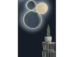 Lampada da parete Ondaluce plafoniera pois oro  O-luce a prezzo Outlet
