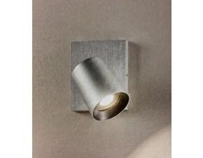Lampada da parete stile Design Modo spot - alluminio spazzolato Fabas luce con forte sconto