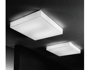 Lampada da soffitto Box sq Linea light a prezzo Outlet