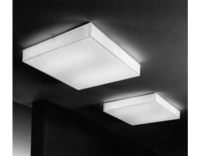 Lampada da soffitto Box sq Linea light a prezzo Outlet