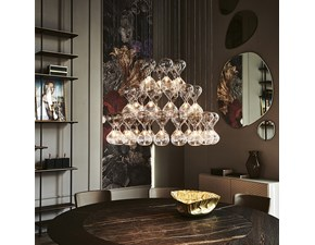 Lampada da soffitto in cristallo Sablier Cattelan italia a prezzo scontato