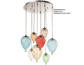Lampada da soffitto in vetro Clown * Ideal lux in Offerta Outlet